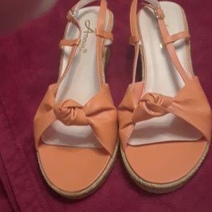 Annie open toe wedge sandals